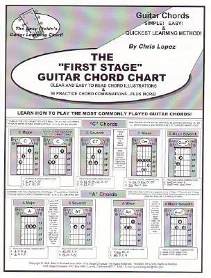 The First Stage Guitar Chord Chart: Learn How to Play the Most Commonly Played Guitar Chords! Chris Lopez