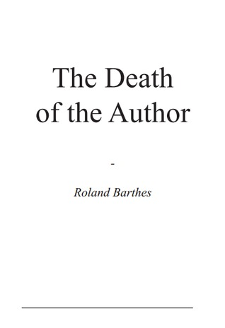 death of the author analysis