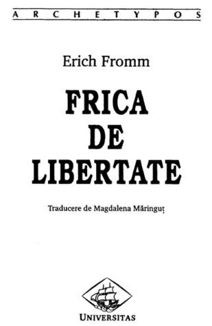 Fuga de libertate  by  Erich Fromm