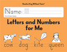 Letters and Numbers for Me Grade K (Handwriting Without Tears)