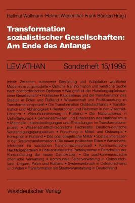 Transformation Sozialistischer Gesellschaften: Am Ende Des Anfangs Hellmut Wollmann
