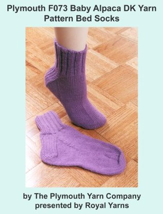 Plymouth F073 Baby Alpaca DK Yarn Pattern Bed Socks  by  Royal Yarns