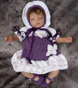 Knitting Pattern - Thistle Dress Baby #140 ShiFios Patterns