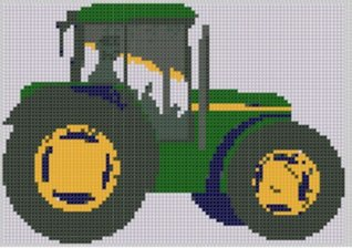 Tractor Cross Stitch Pattern NOT A BOOK