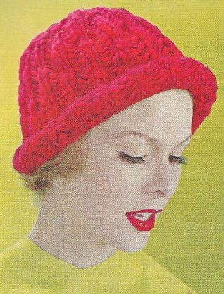 Rolled Brim Stocking Cap Hat Beanie Knit Knitting Pattern  by  Unknown