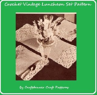 Crochet Luncheon Set Pattern - Vintage Crochet Patterns for Placemats and Center Runner Mat Craftdrawer Craft Patterns