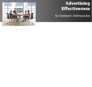 Advertising Effectiveness George Sotiropoulos