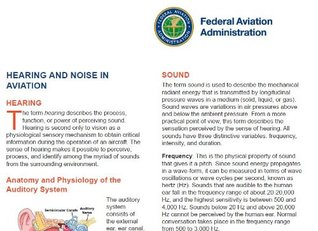 HEARING AND NOISE IN AVIATION, Plus 500 free US military manuals and US Army field manuals when you sample this book  by  Delene Kvasnicka