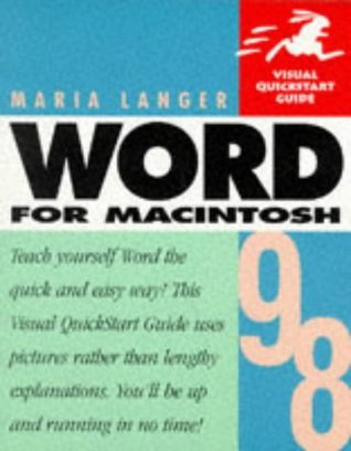 Word 98 for Macintosh  by  Maria Langer