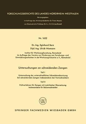 Untersuchungen an Schneidenden Zangen  by  Eginhard Barz