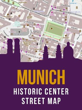 Munich, Germany Historic City Center Street Map  by  eReaderMaps