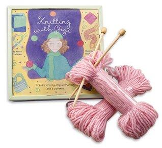 Knitting with Gigi [With Knitting Needles, 2 Skeins of Yarn, Sewing Needle] Karen Thalacker