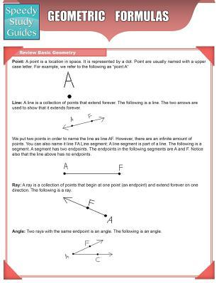 Geometric Formulas  by  LLC Speedy Publishing
