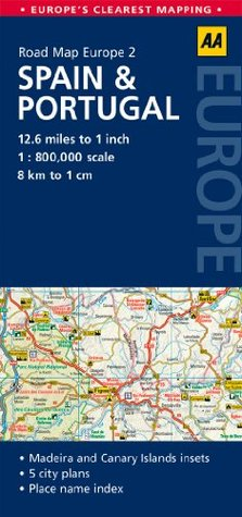 Road Map Spain & Portugal A.A. Publishing