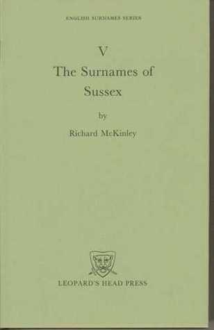 The Surnames of Sussex Richard McKinley