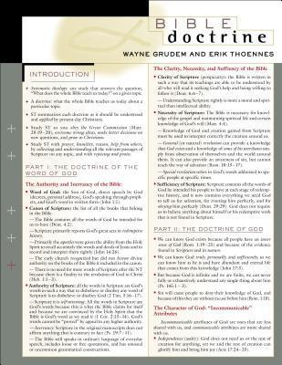 Bible Doctrine Laminated Sheet  by  Wayne A. Grudem