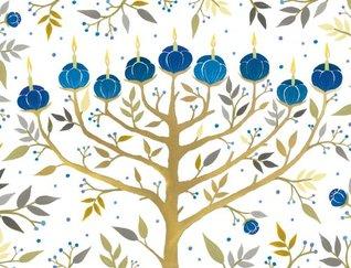 Chanukah Tree Of Lights Holiday Embellished Notecards Ana Victora Calderón