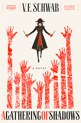 Review: A Gathering of Shadows by V.E. Schwab (@jessicadhaluska, @veschwab, @torteen, @torbooks)