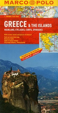 Greece & The Islands Marco Polo Map  by  Marco Polo Travel