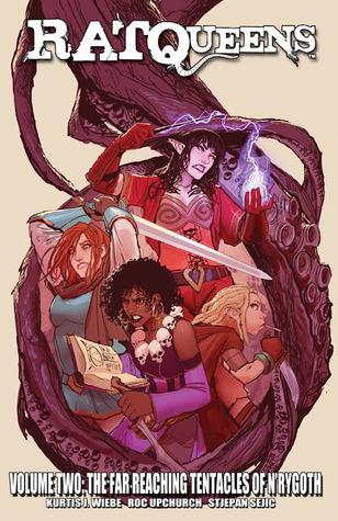 the cover of Rat Queens volume 2