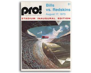 1973 NFL Bills vs. Redskins Inaugural Stadium (Rich Stadium) Issue Game Program  by  Various