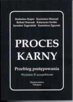 Proces Karny. Przebieg postępowania  by  Kazimierz Marszał
