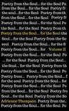 Poetry from the Soul... for the Soul: Volume II