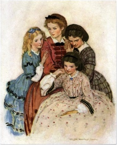 Cover art (Penguin Classics Edition/1989; The Illustrated Children's Library Edition/2002): <i>Meg, Jo, Beth and Amy</i> by Jessie Willcox Smith.