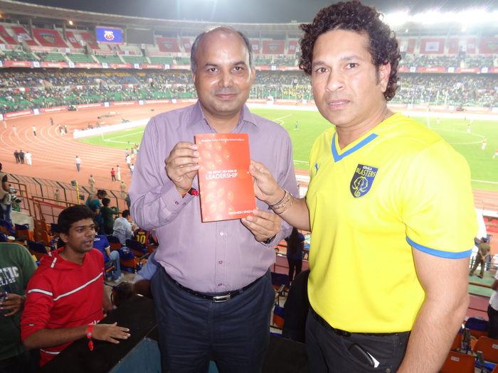 author Awdhesh Singh with Legend Sachin Tendulkar